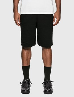 Burberry Logo Print Cotton Drawcord Shorts