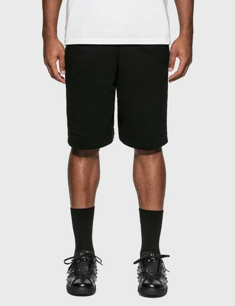 버버리 Burberry Logo Print Cotton Drawcord Shorts