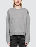 Alexander Wang.T Dry French Terry Distressed Sweatshirt Picture