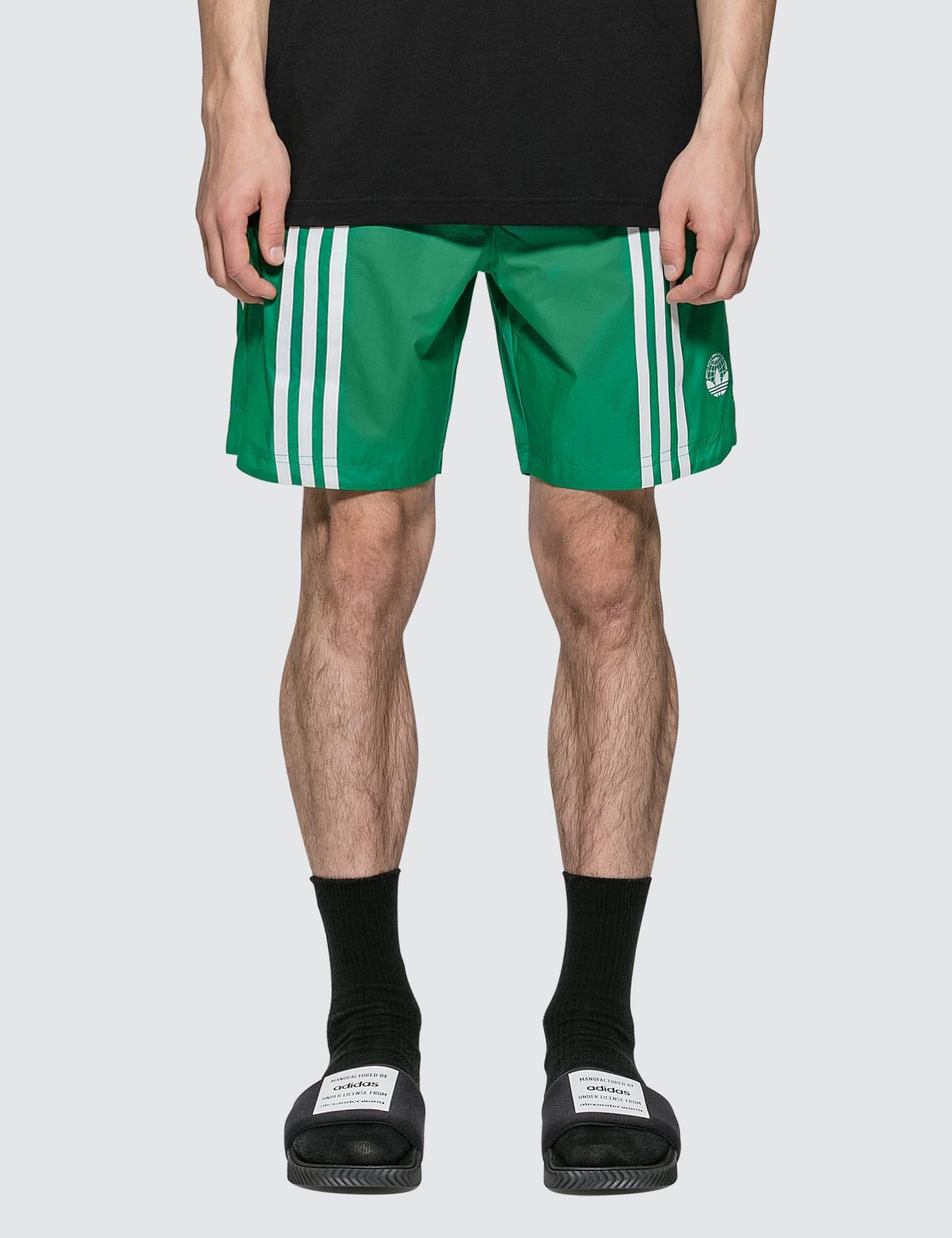 adidas originals green shorts