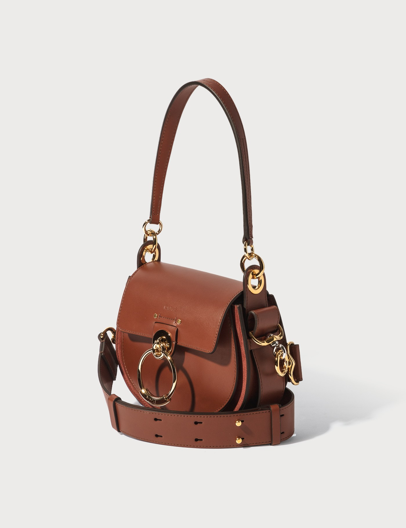 Chloé Small Tess Bag In Brown