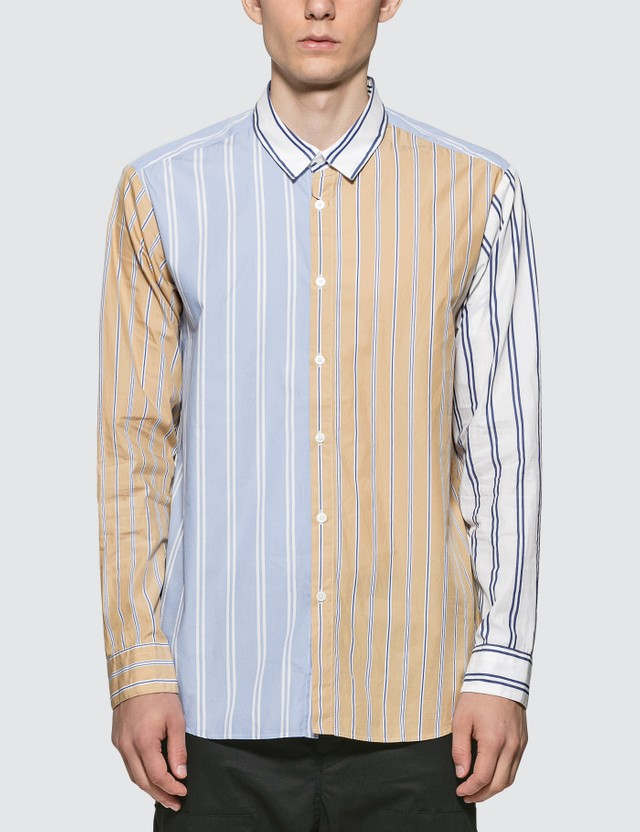 SOPHNET. Allover Stripes Shirt