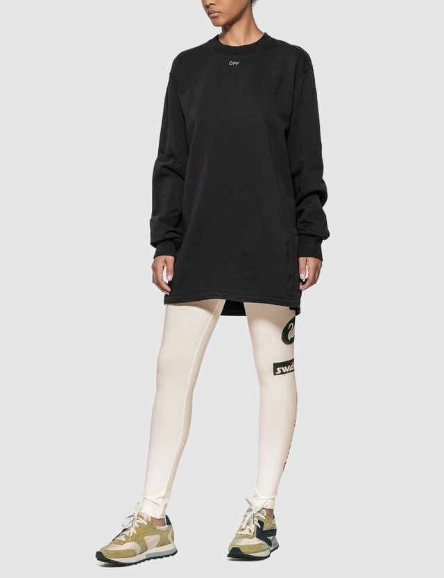 Off-White Shifted Carryover Long Dress