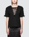 McQ Alexander McQueen Laced S/S Top Picture