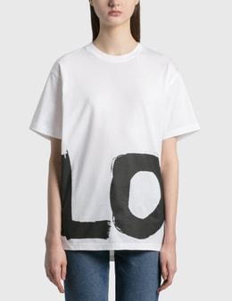 Burberry Love Print Cotton Oversized T-Shirt