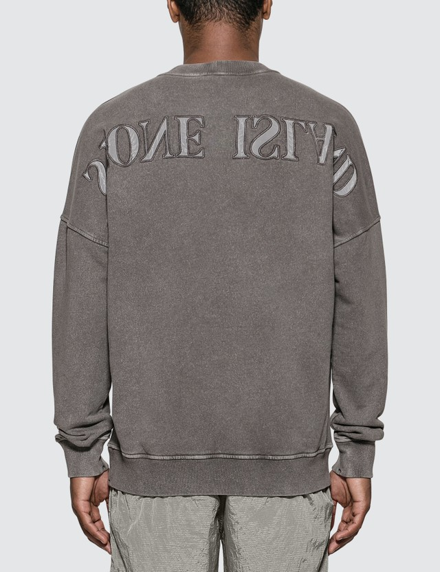Stone Island Compass Embroidered Sweatshirt