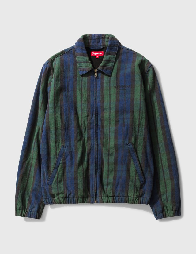 Supreme Supreme Checked Zip Up Jacket Green Men