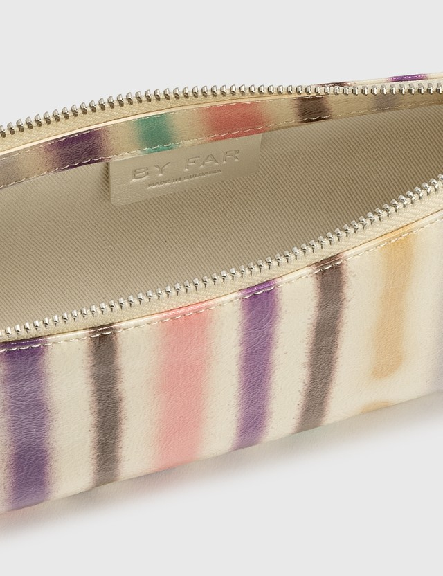BY FAR Rachel Spray Paint Leather Bag Ivory Women