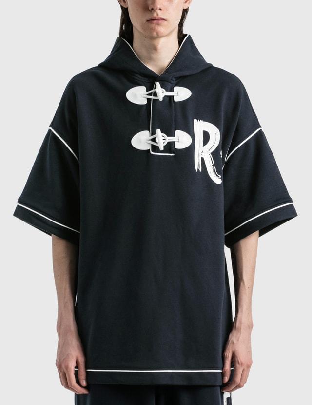 Emporio Armani Cotton Short Sleeve Hoodie Blu Navy Men