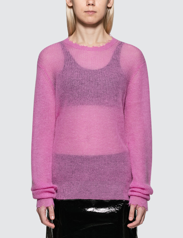 Helmut Lang Feather Weight Mohair Crew