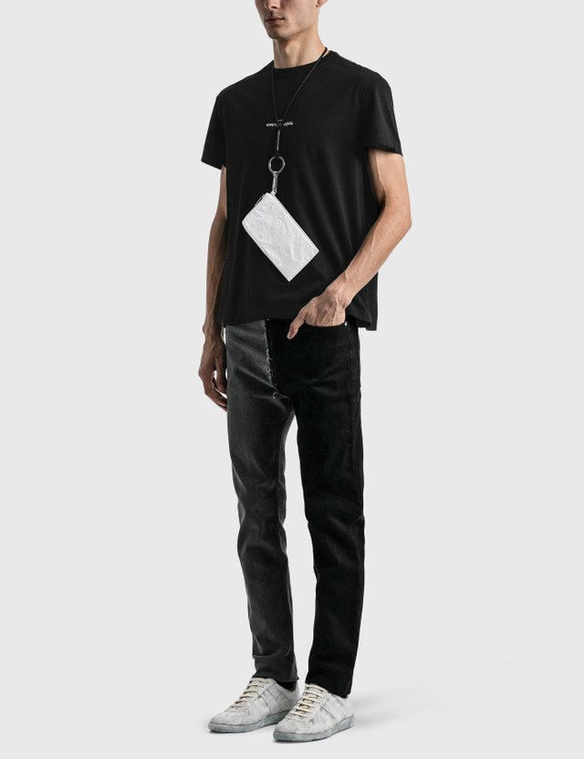 Maison Margiela Embroidered Logo T-Shirt Black Men