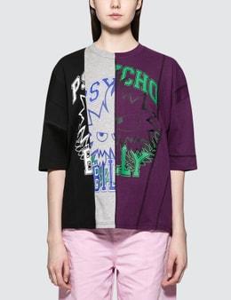 McQ Alexander McQueen Vertical Cut Short Sleeve T-shirt