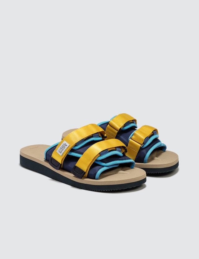 Suicoke MOTO-Cab Sandals Navy/tan Men