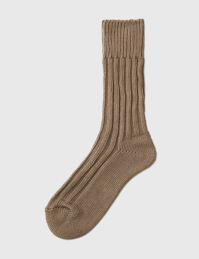 Decka Socks Cased Heavy Weight Plain Socks (3rd Collections) Beige Men