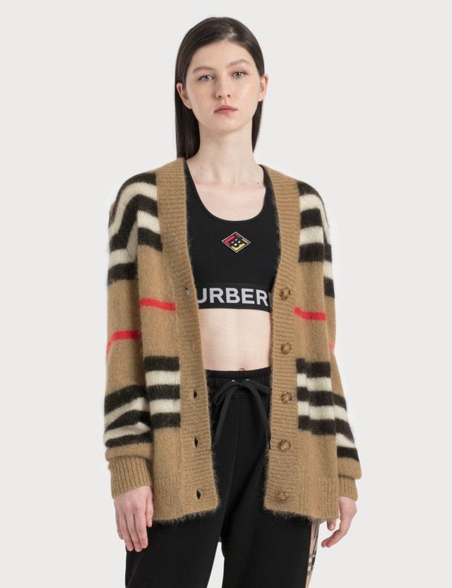 Burberry Vintage Stripe Mohair Oversized Cardigan