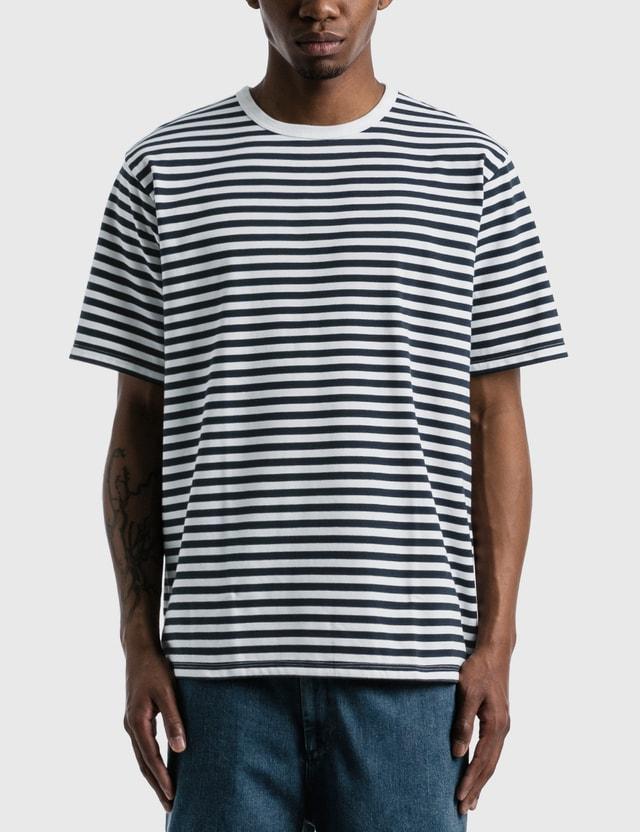 Nanamica Coolmax Striped Jersey T-shirt