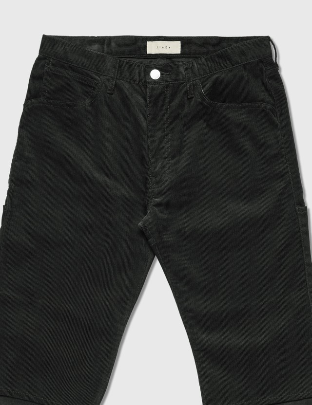 JieDa Switching 2-Way Flare Pants Black Men