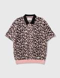 Wacko Maria Leopard Knit Polo Shirt Picutre