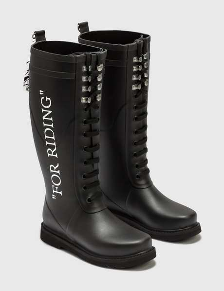 오프화이트 Off-White FOR RIDING Wellington Boots