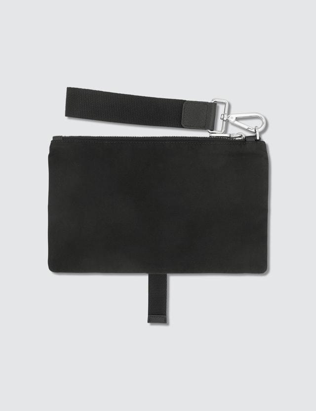 Prada Tiangle Logo Nylon Pouch With Buckle