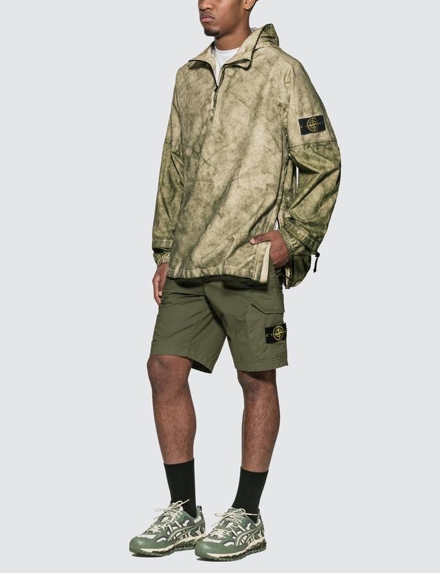 Stone Island Membrana Oxford 3L Half Zip Anorak Jacket