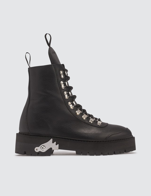Off-White Leather Hiking Boot