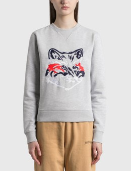 Maison Kitsune Big Fox Embroidery Regular Sweatshirt