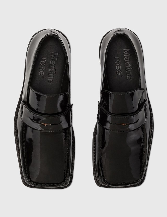 Martine Rose Patent Leather Loafer Black Black Women