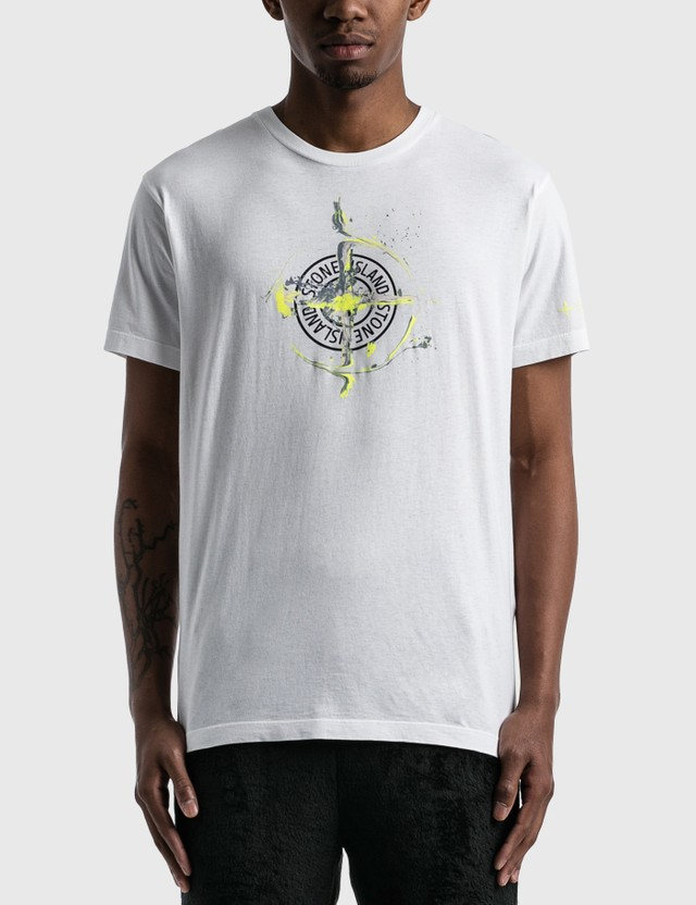 Stone Island Mable One Print Logo T-Shirt White  Men