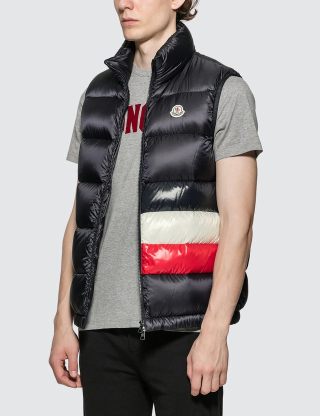 Moncler Gilet with Moncler Stripe Front Detail