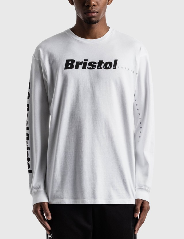 F.C. Real Bristol Reflective 45 Stars Long Sleeve T-Shirt White Men