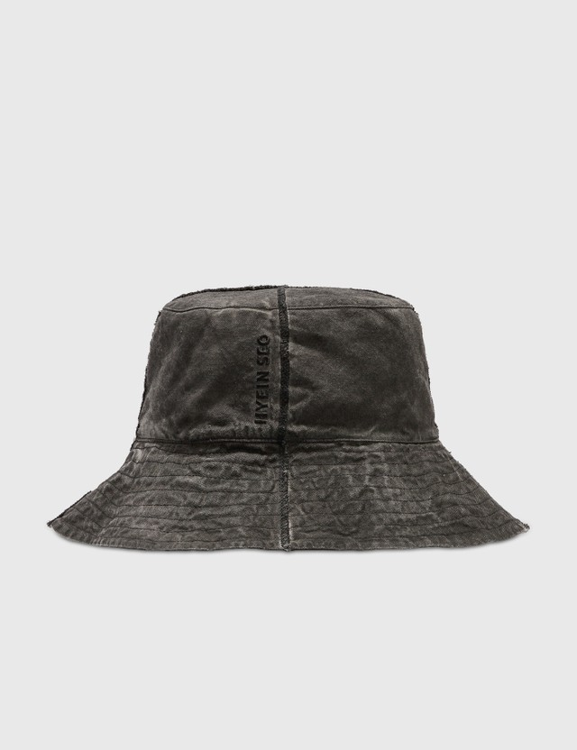 Hyein Seo Logo Bucket Hat Grey Women