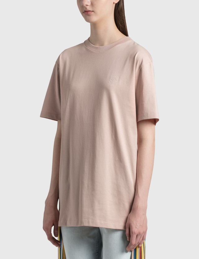 Loewe Anagram Embroidered T-shirt Pale Salmon Women