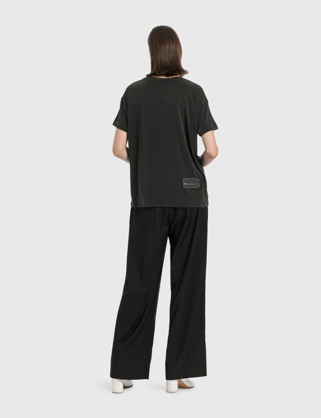 We11done Silicone Logo Trousers Black Women