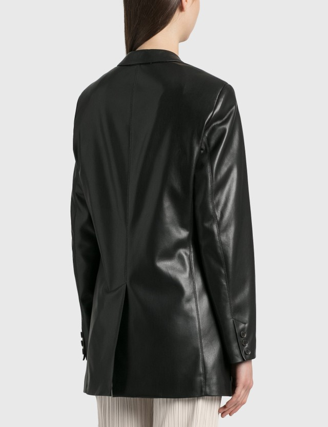 Nanushka Cancun Vegan Leather Blazer Black Women