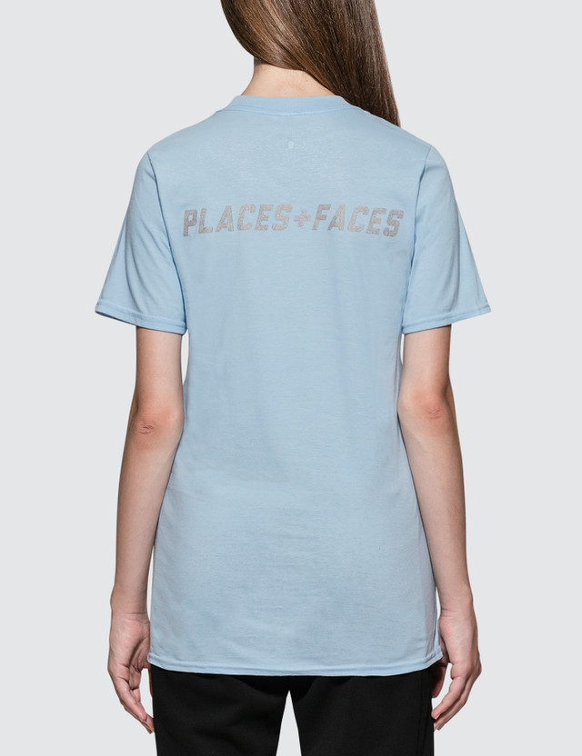 Places + Faces P+F Logo Reflective Short Sleeve T-shirt