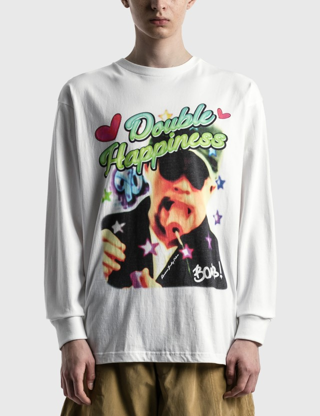RAW EMOTIONS Double Happiness Long Sleeve T-shirt White Men