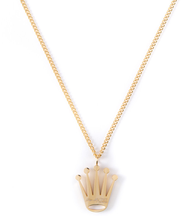The Sneaker Studio Gold Crown Piece Necklace