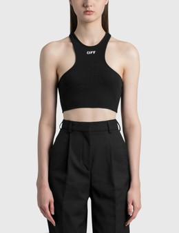 Off-White Ribbed Rowing Top