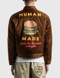 Human Made Padded Nylon Work Jacket Brown Men