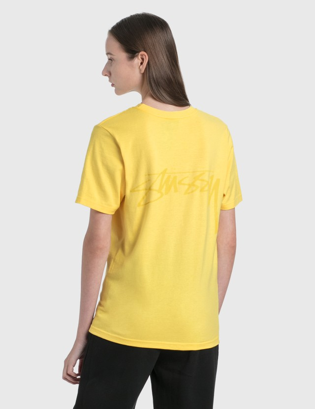 Stussy Smooth Stock T-Shirt Yellow Women