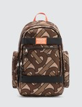 Burberry Large Leather Trim Monogram Print Nevis Backpack Picture