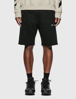 Off-White Diagonal Sweat Shorts