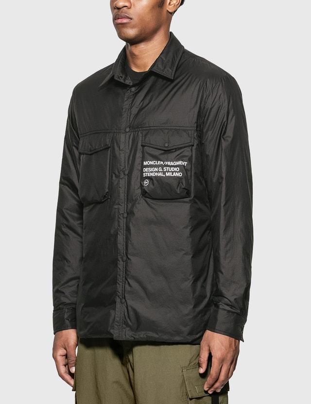 Moncler Genius Moncler Genius x Fragment Design Mazen Shirt Jacket Black Men