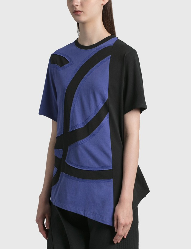 Loewe Oversize L Logo T-shirt Blue/black Women