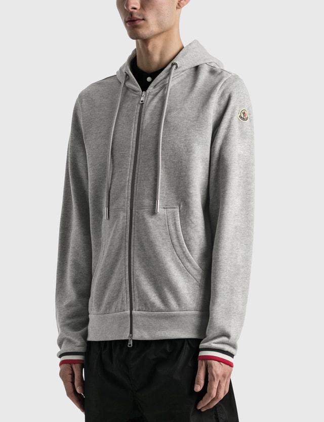 Moncler Zip Hoodie Grey Men