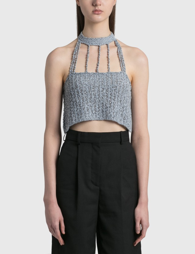 We11done Lace Halter Crop Top