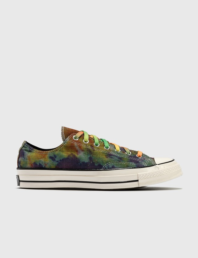 Converse Tie Dye Plaid Chuck 70 OX Egret/multi/black Men