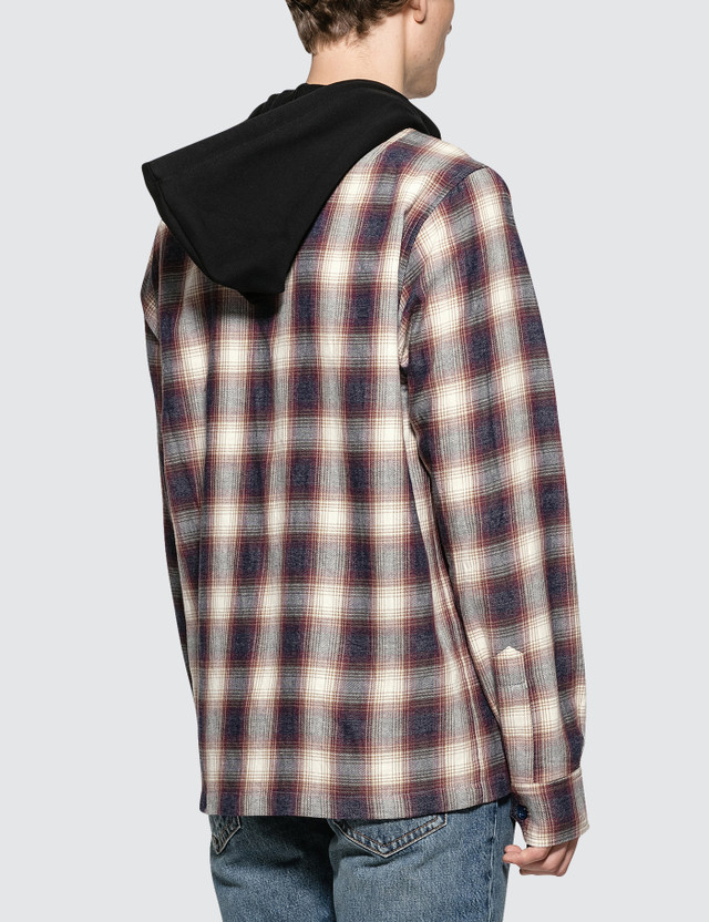Faith Connexion Check Hooded Shirt