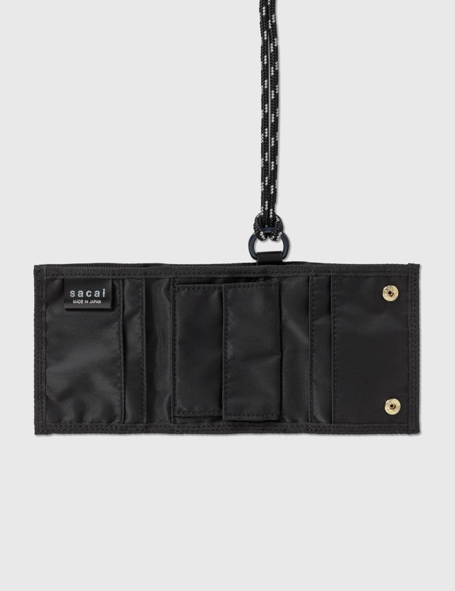 Sacai Sacai x Porter Nylon Trifold Wallet Black Men